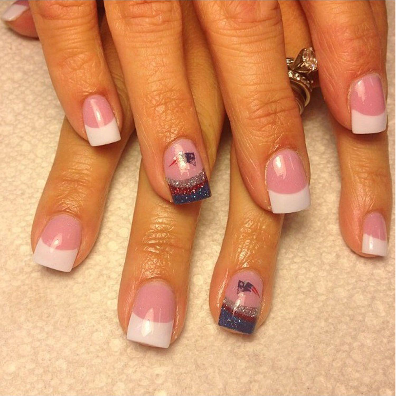 Patriots Nails | Patriots Nails | Pinterest | Patriots, Makeup and ...