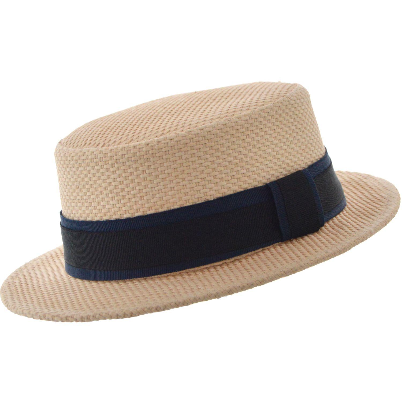 SOMBRERO CANOTIER RAFIA MALTA Sombrero modelo Canotier en rafia tejido  artesanal Tafilete interno de elastico para b01dbd2ddf8