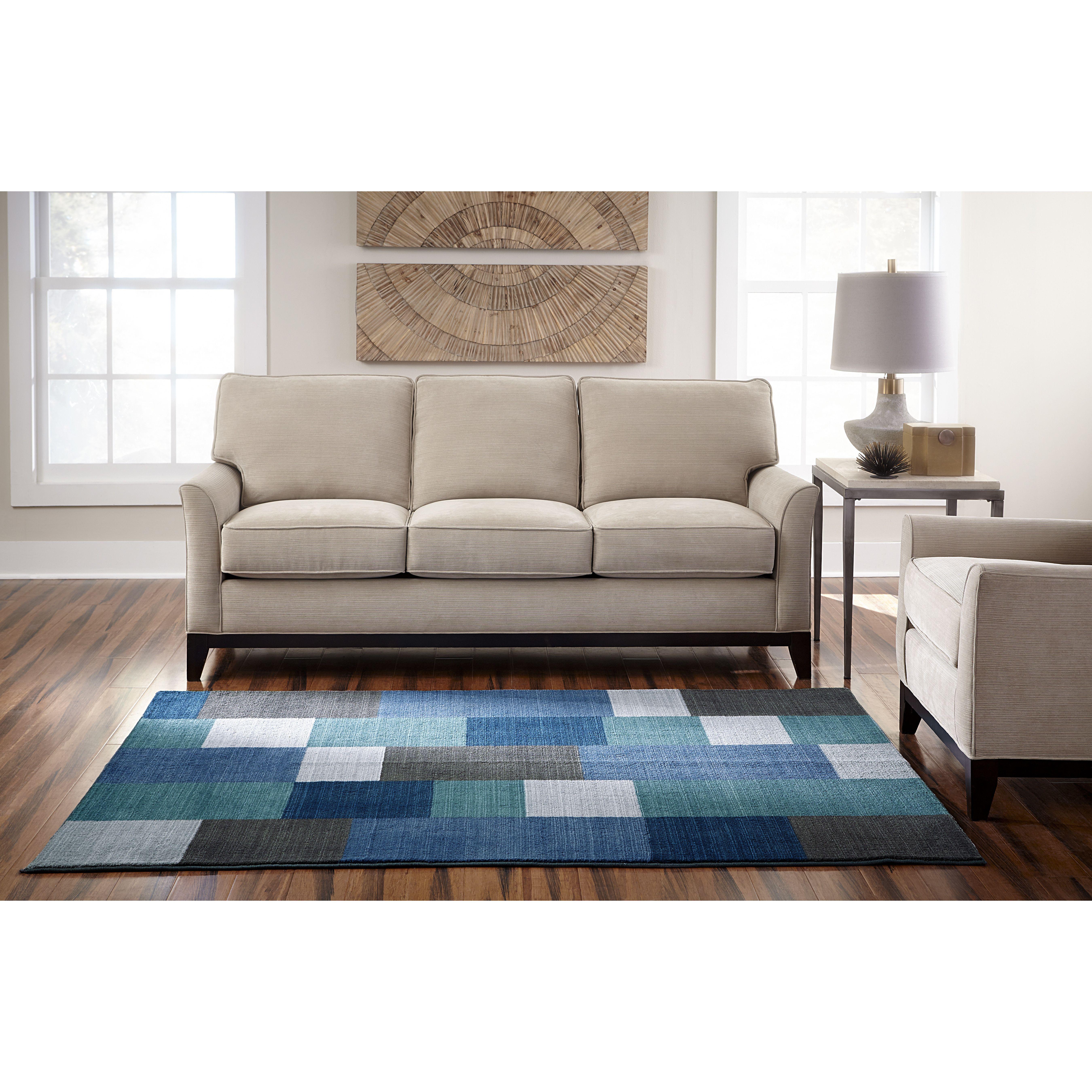 Lavita teal area rug