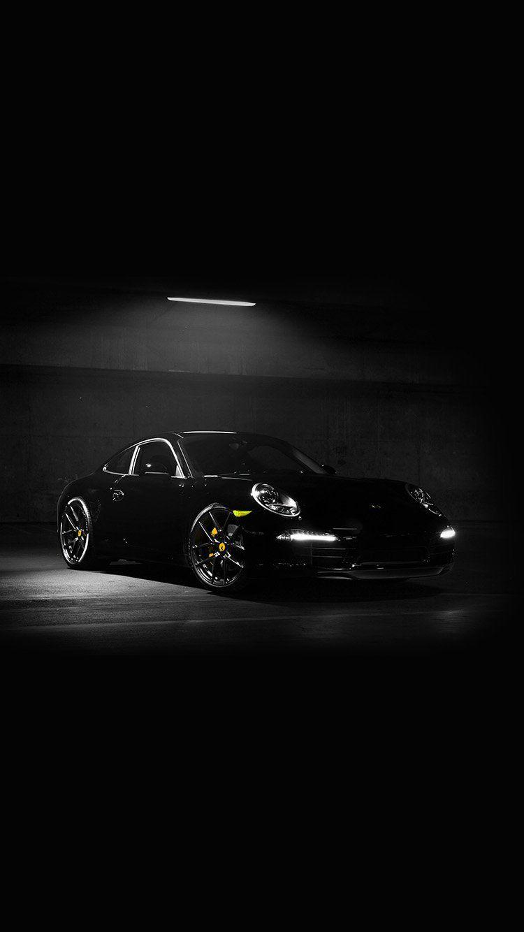 Av49 Porsche Illustration Art Super Car Black Dark Yellow Dark Wallpaper Porsche Iphone Wallpaper Best Iphone Wallpapers
