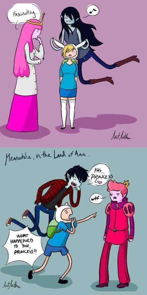 lol what would happen if they switched. haha. boys vs girls in this case. Adventure Time