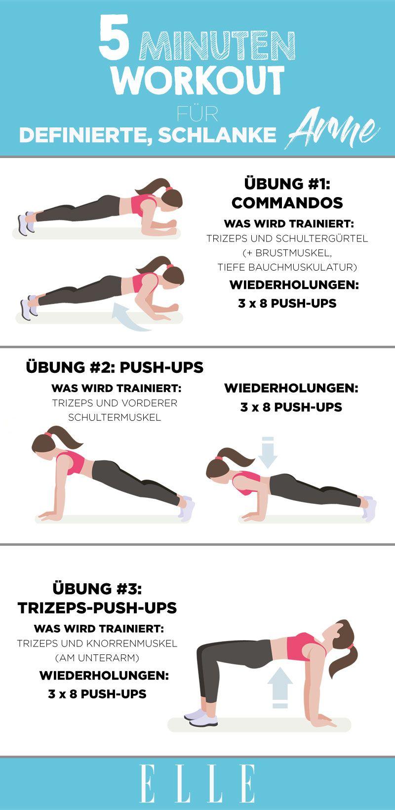 Fünf-Minuten-Workout: die 3 besten Übungen für schlanke Arme #workoutplans
