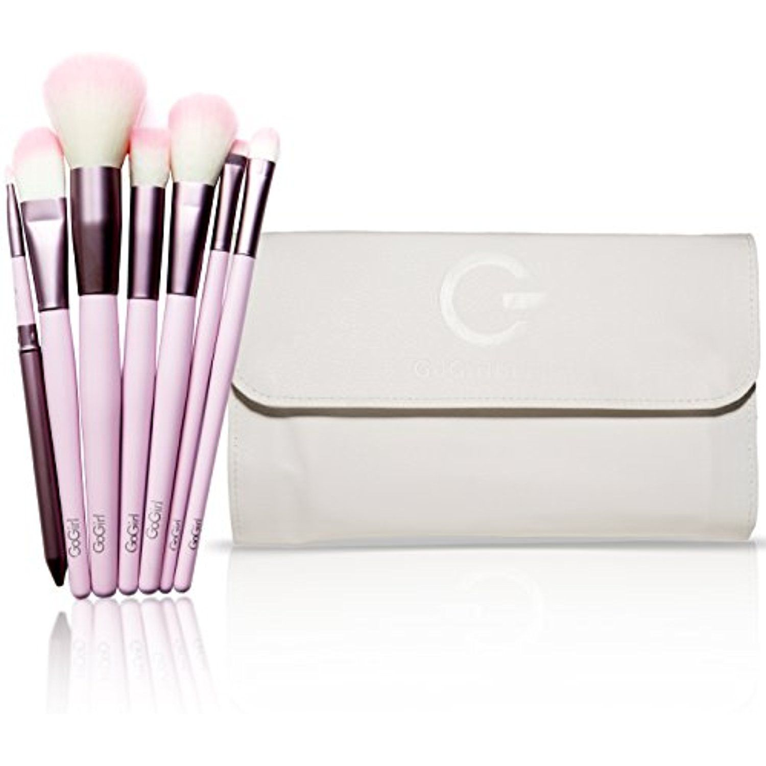 Gg Beauty Premium Synthetic Makeup Brush Set 20 Piece Cosmetics Kit With White Pouch