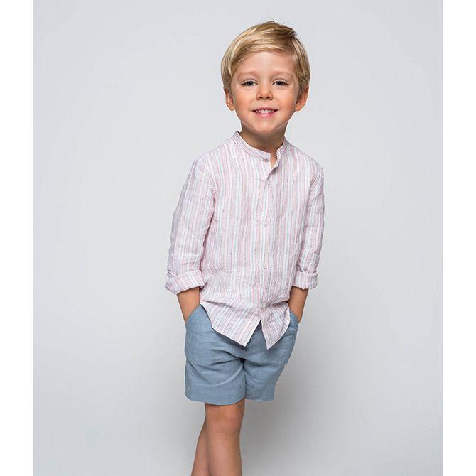 comprar online fe36b 50c6b Camisa Mao Rayas Verde Y Rosa para niño (2-10 años)|Gocco ...