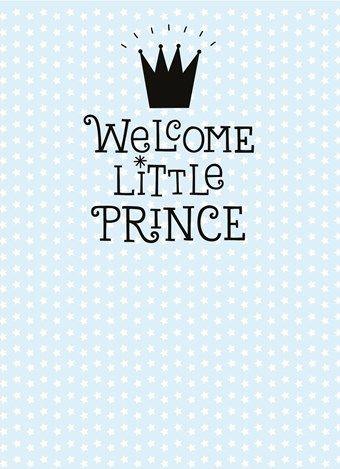 Geboortekaartje Welcome Little Prince Babys Arrival Baby