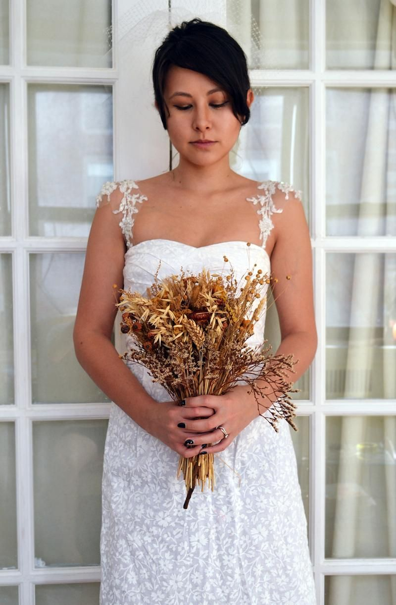 DIY Wedding Dress: How to make this Lace Cap Sleeves on Wedding ...