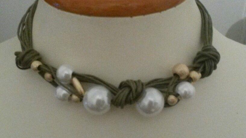 54b0856ea88e Collar perlas nudos cordones bisutería | Accesorios Bisutería ...