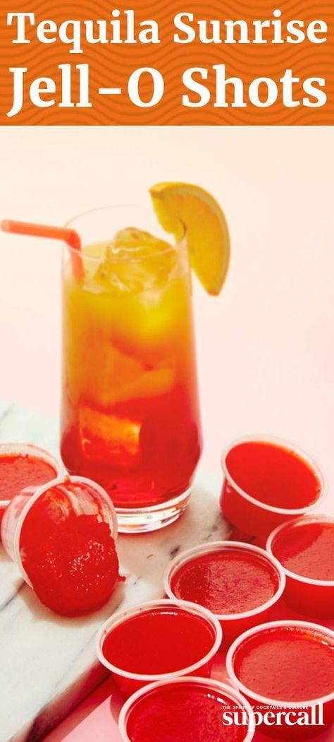 Tequila Sunrise Jello Shot #tequiladrinks
