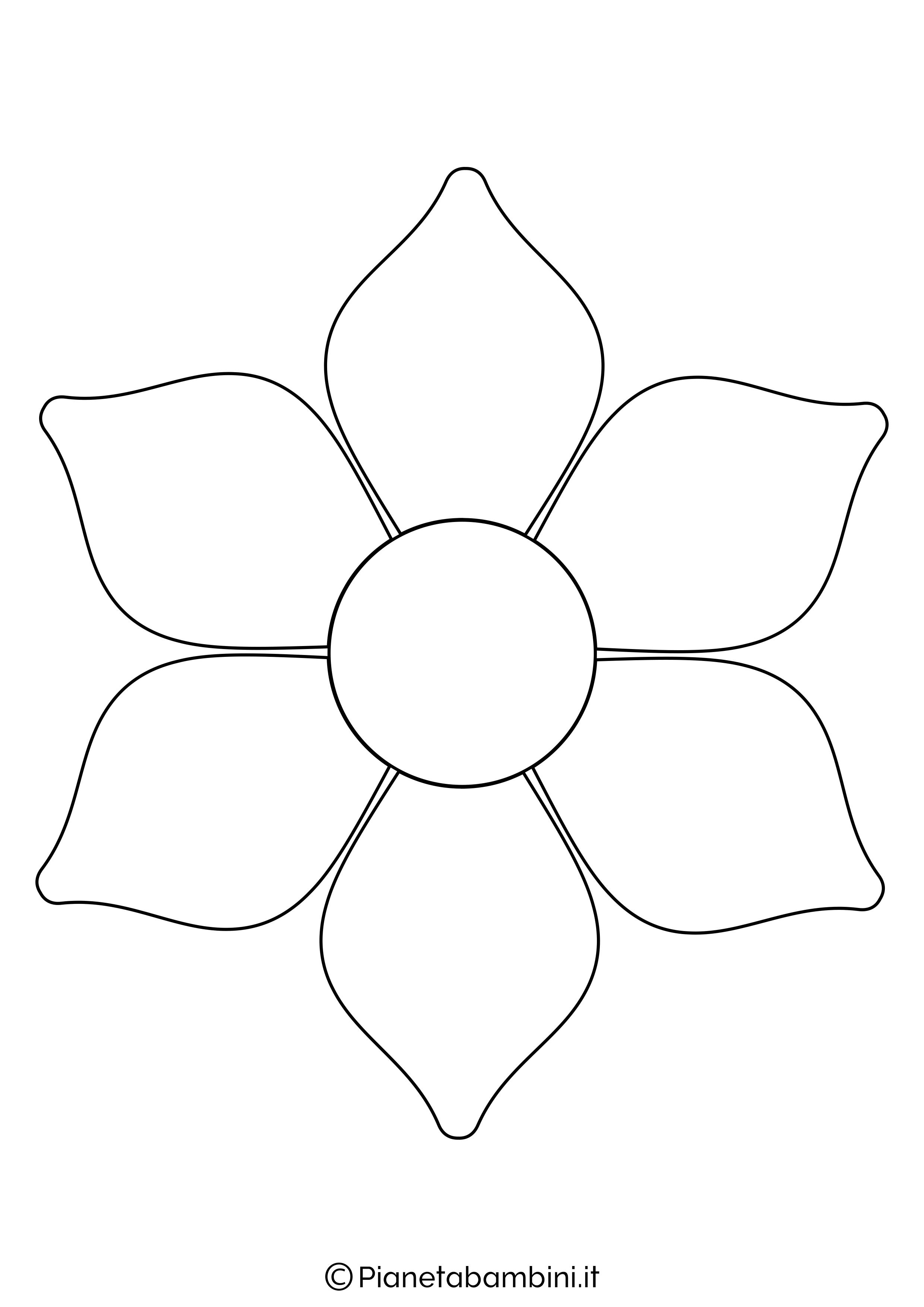 Fiore Disegni Per Bambini : fiore, disegni, bambini, Sagome, Fiori, Colorare, Ritagliare, Bambini, Modelo, Feltro,, Molde, Petalas,, Artesanato, Reciclado, Crianças