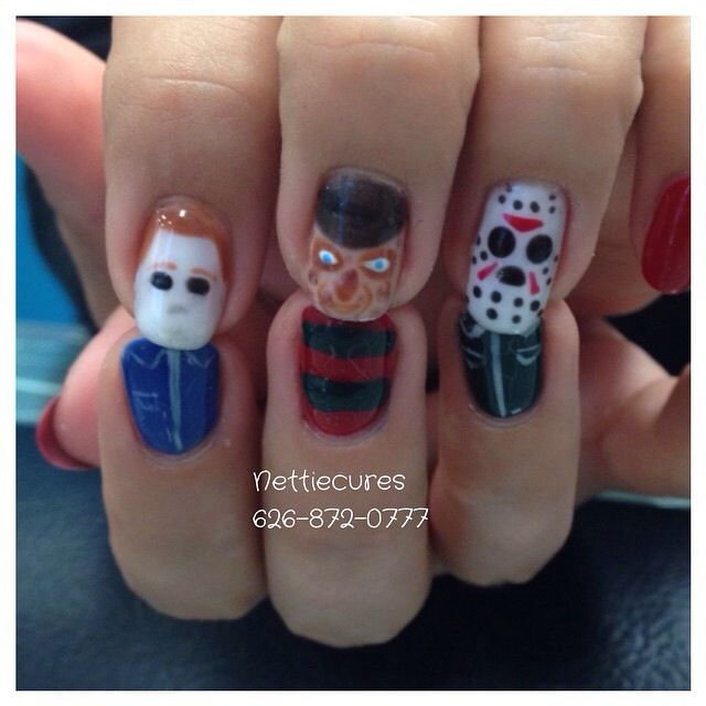 Michael Myers, Freddy Krueger, & Jason Vorhees. The greats | My Nail ...