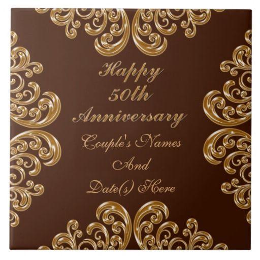 Personalized Fiftieth Anniversary Gifts For Family Ceramic Tile Zazzle Com Fiftieth Anniversary Gifts Anniversary Gifts Milestone Anniversary Gifts