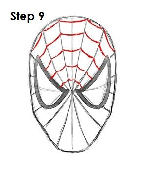 How To Draw Spiderman Step By Step Easy : spiderman, Spider-Man, Spiderman, Drawing,, Painting,, Canvas, Painting