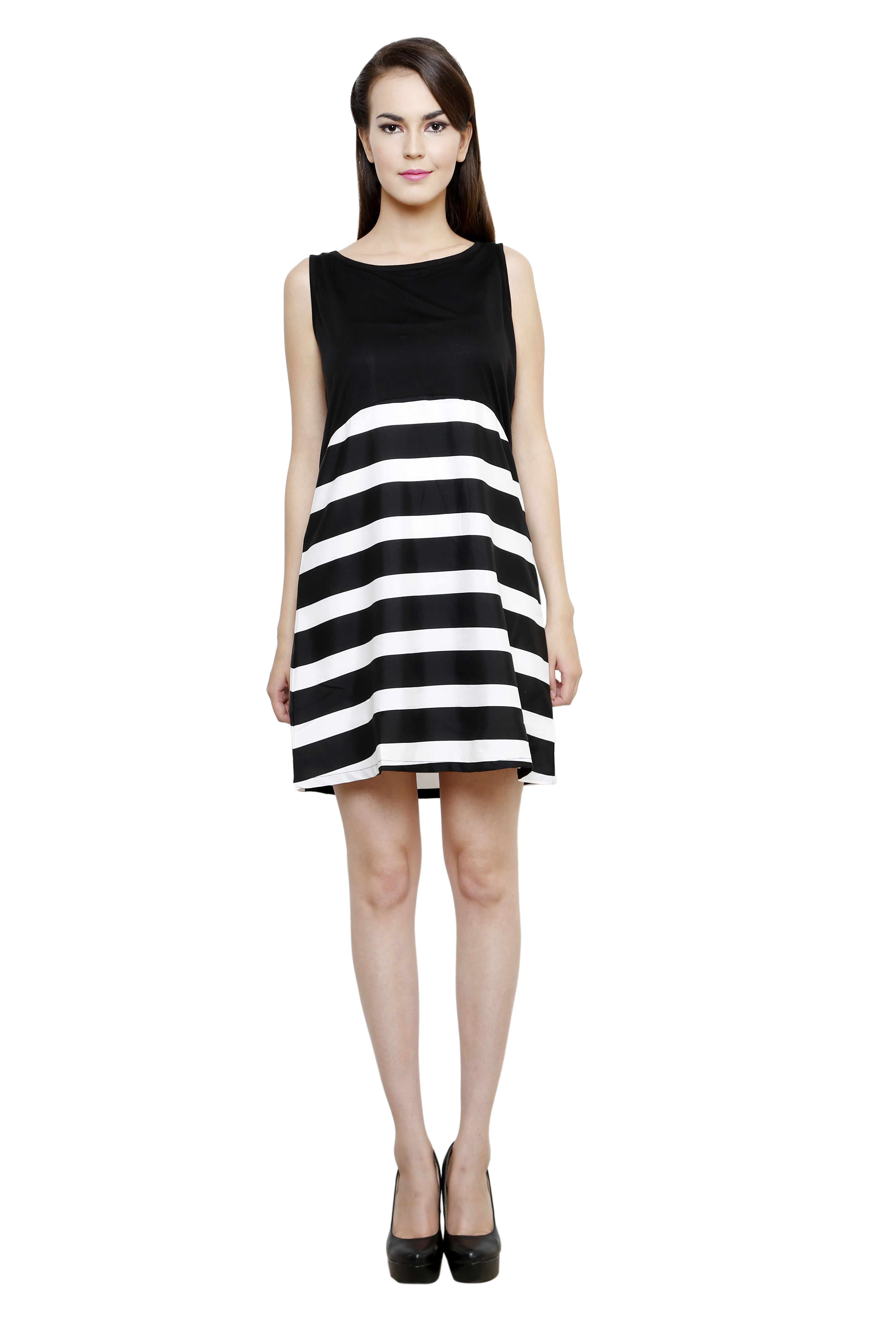 Flaunt a nofuss look by wearing this black coloured dress from i am