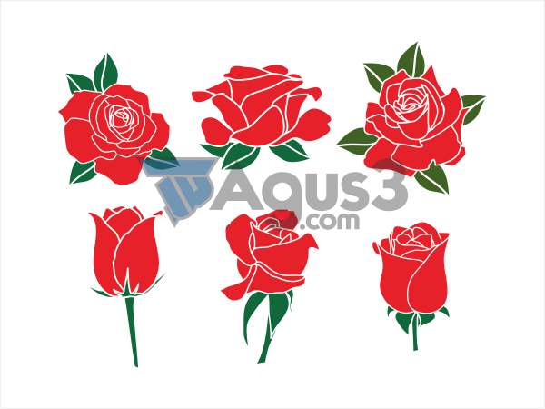 red rose bunga mawar merah vector seni buku gambar dackel vektor gras