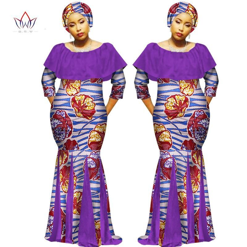 6b0600b4b49 African Dashiki Plus Size Traditional Dress with Headtie