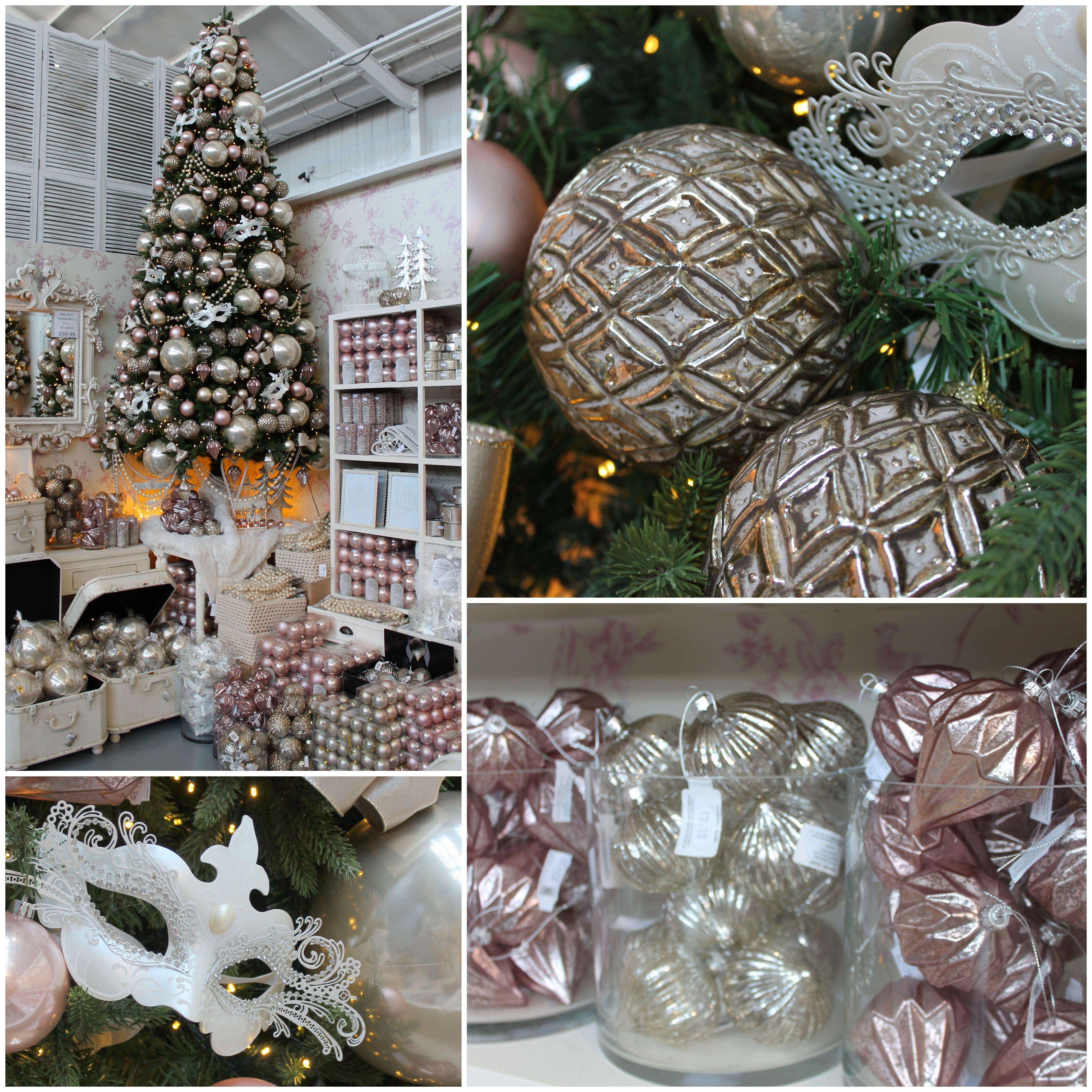 Fairytale Christmas Decorations.Romantica A Fairytale Christmas Scheme In Blush Pink Pearl