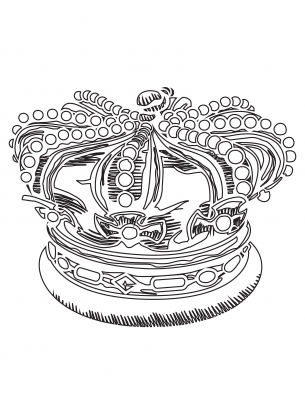 Crown Coloring Pages | Baby girl | Pinterest | Crown, Ephemera and ...