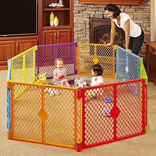 8 Panel Kids Toddlers Play Yard Baby Playpen Indoor Outdoor Safety ...
