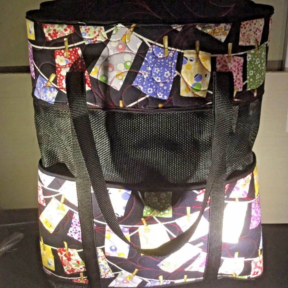 78a92ec63 Quilted Fabric Tote with Vinyl Mesh 19