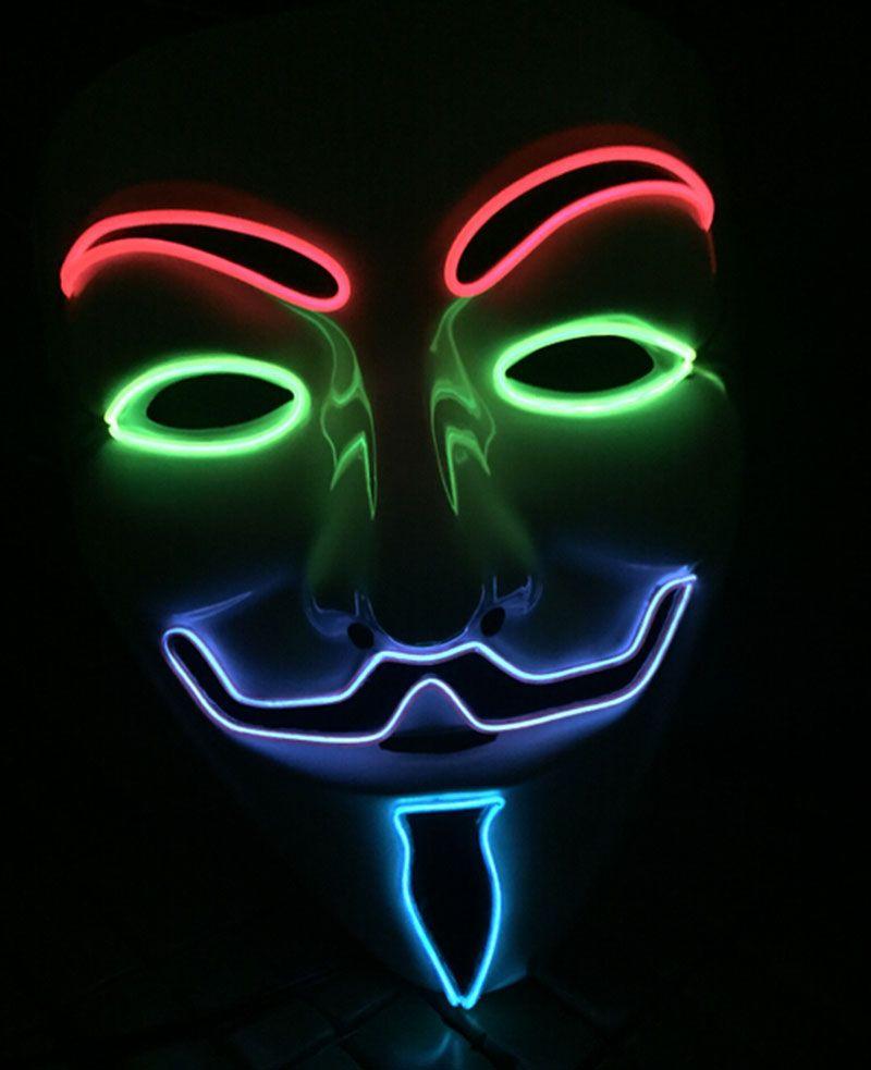 Pin By Rachel Morfett On Led Light Mask In 2020 Anonymous Mask Vendetta Mask Vendetta