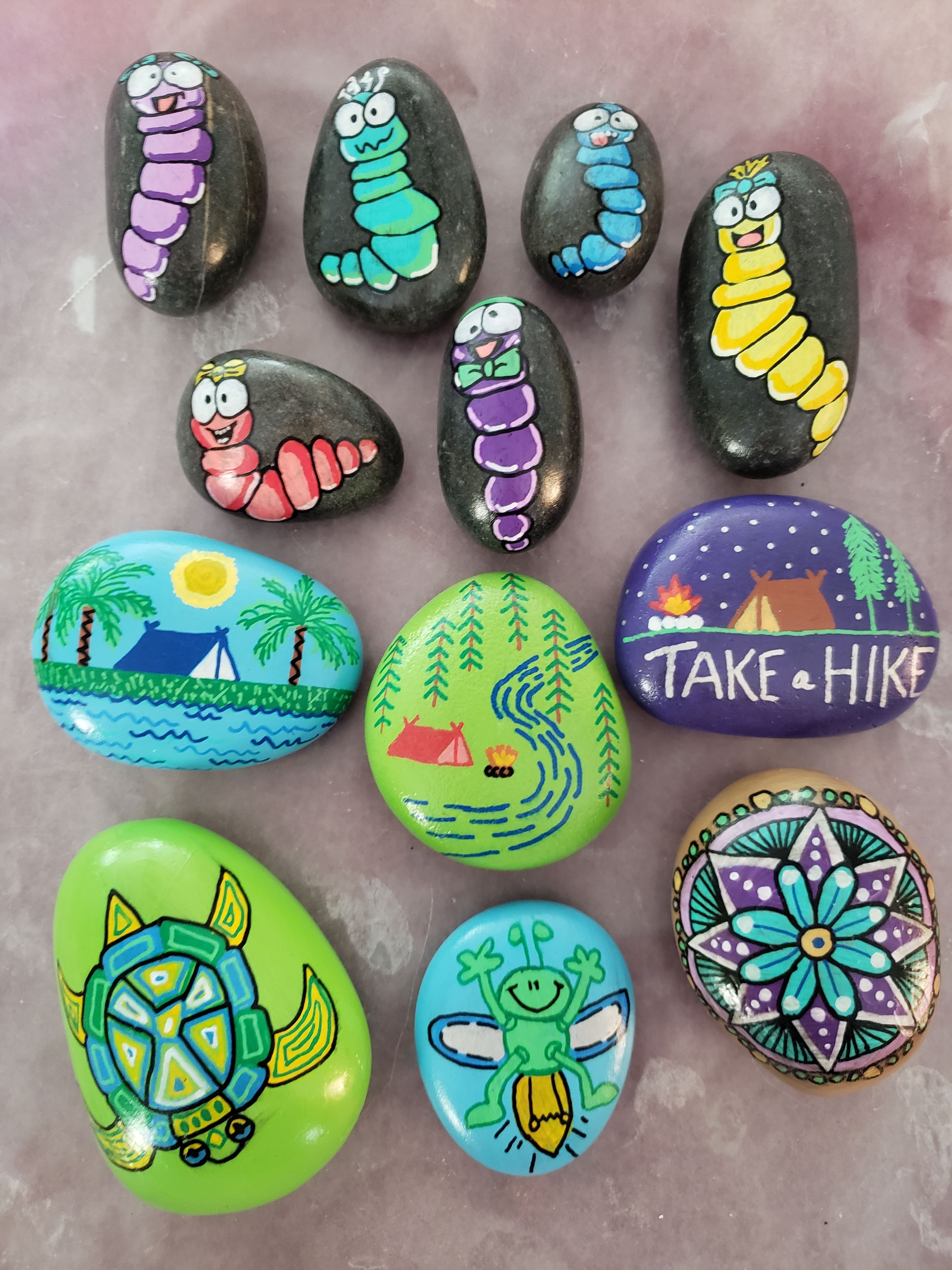 Painted Rocks Worms Camping Take A Hike Beach Forest River