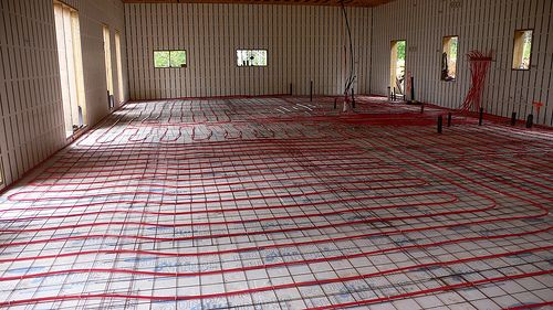 Electric Radiant Floor Heating Home Decor Heated Floors Flooring Radiant Floor Basement Flooring