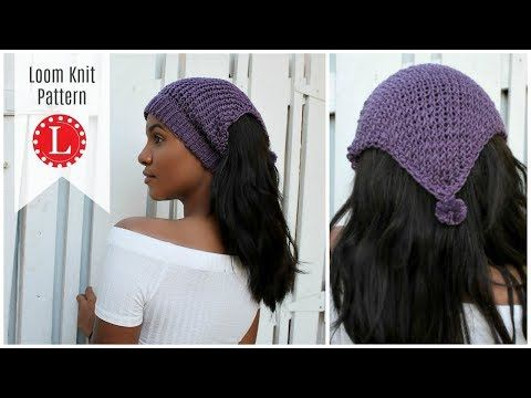 Loom Knitting Ear Warmer Pattern Headband Hat On A Round Loom