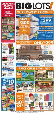 Big Lots Ad June 24 July 4 2017 Do You Know Whats In And Hot The For This Week If Havent Using Stores Weekly