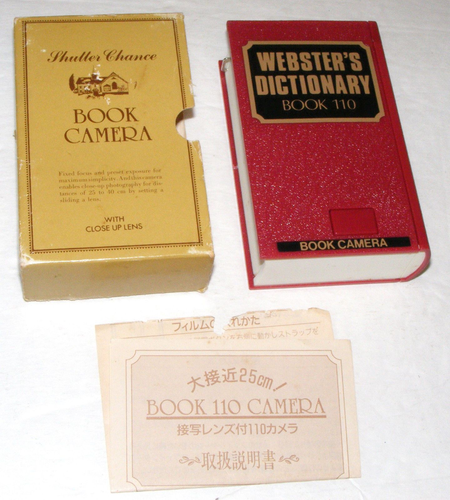 Websters Dictionary Book Disguised 110 Spy Camera Vintage Complete Ebay