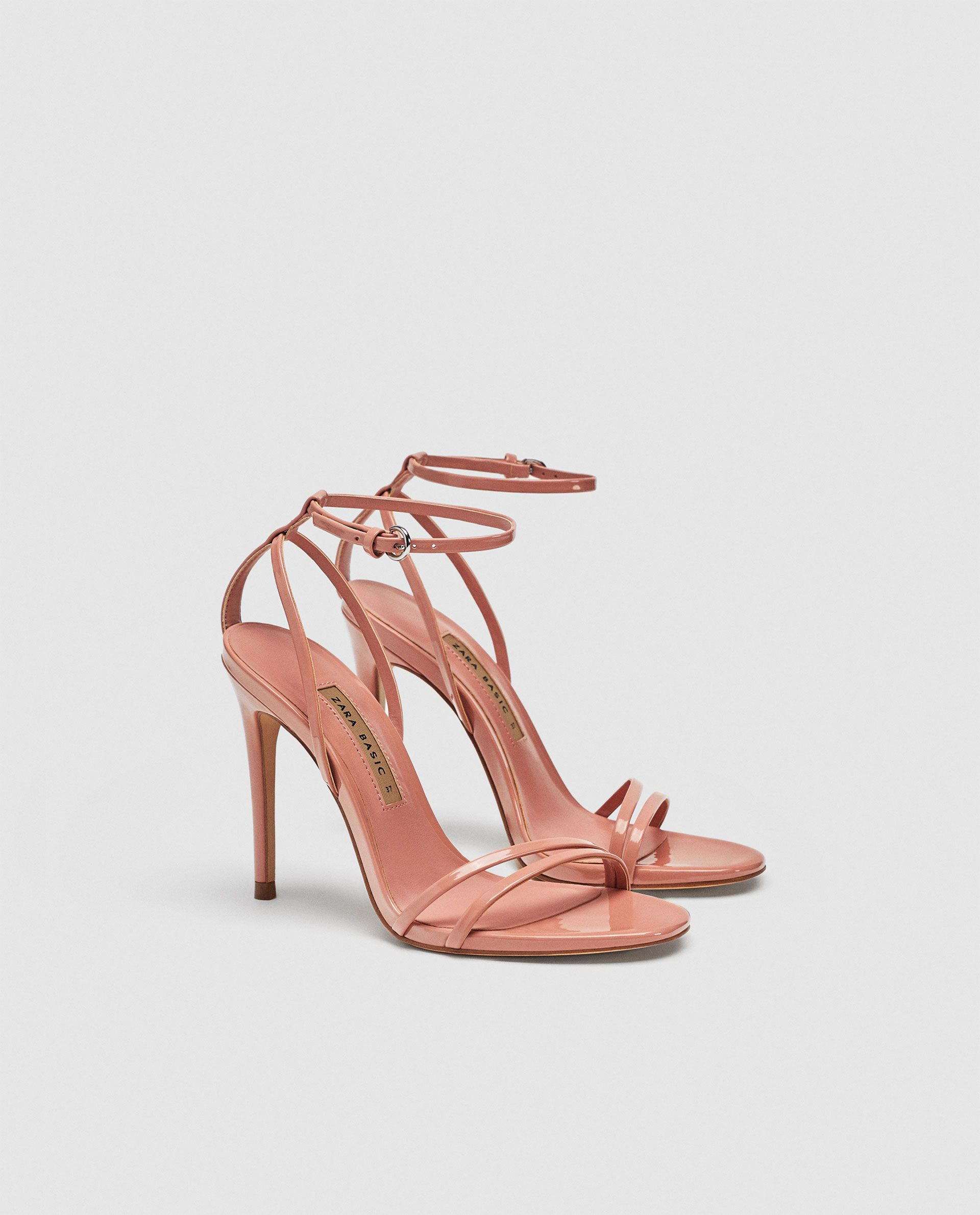317b55fb77982 ZARA - SALE - HEELED SANDAL WITH LAMINATED STRAPS