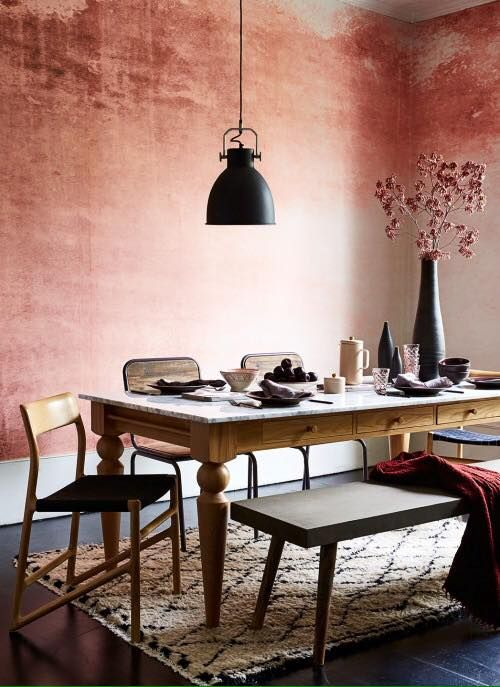 washed out pink stucco Interiors Pinterest