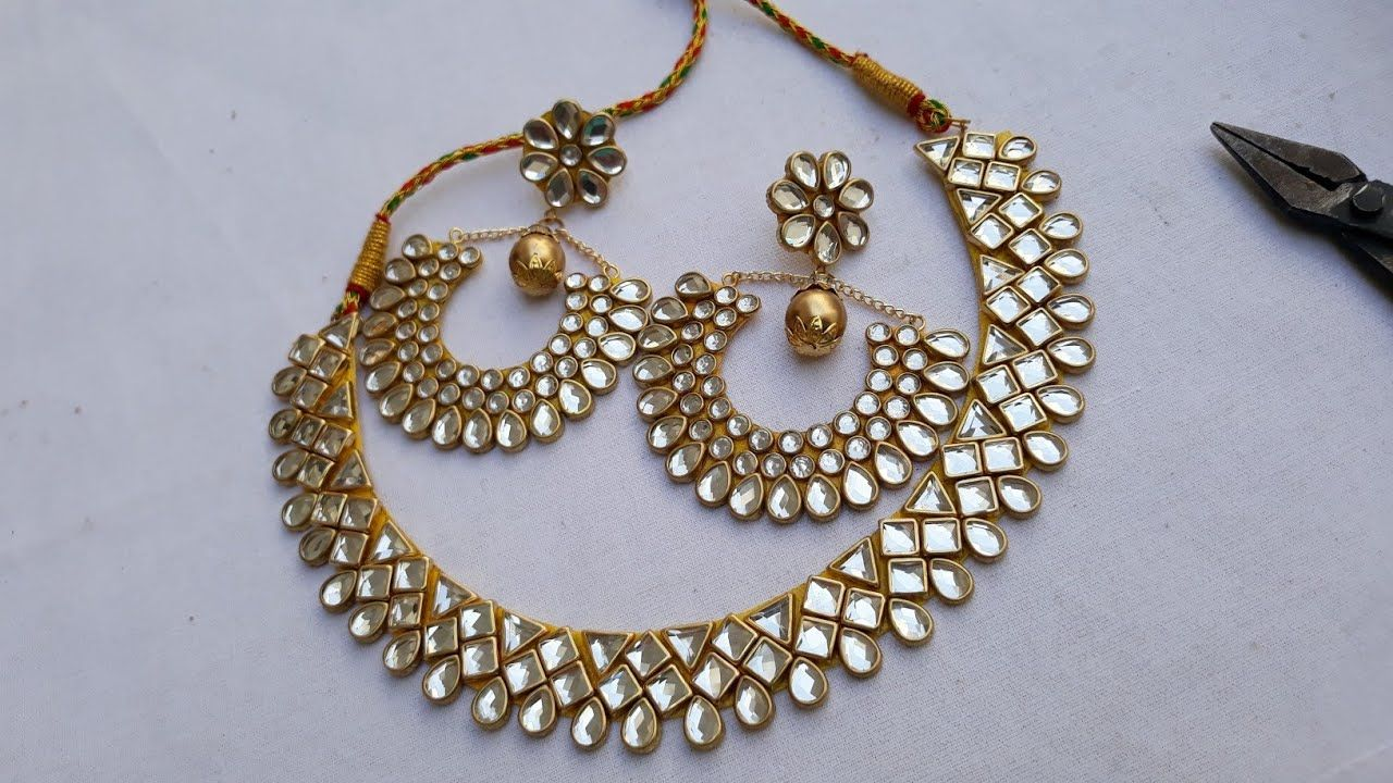 39bb2bf1fbb4af (DIY)HOW TO MAKE DESIGNER WEAR BEAUTIFUL EARRINGS SET WITH NECKLACE//PAP.