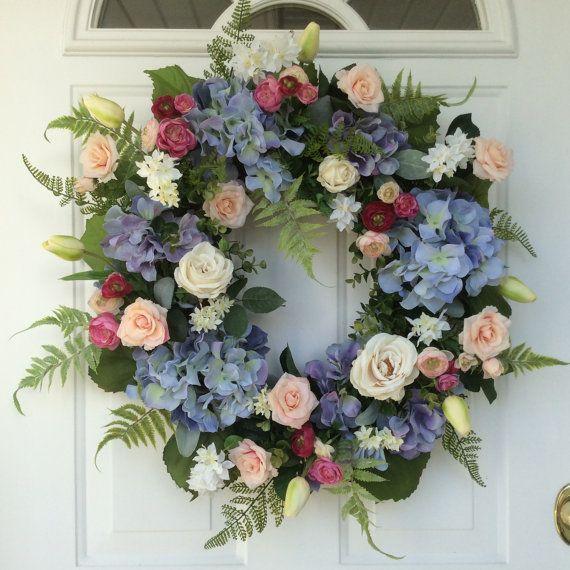 Spring Wreath-Tulip Wreath-Summer by ReginasGarden on Etsy