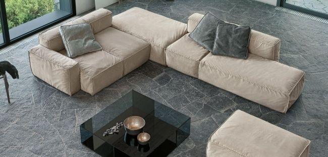 Modernes Modulares Sofa Gepolstert PEANUT Mauro Lipparini Bonaldo