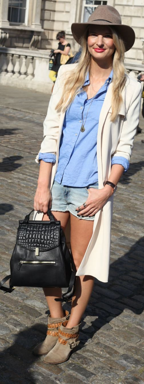White Long Line Trench #It Girl