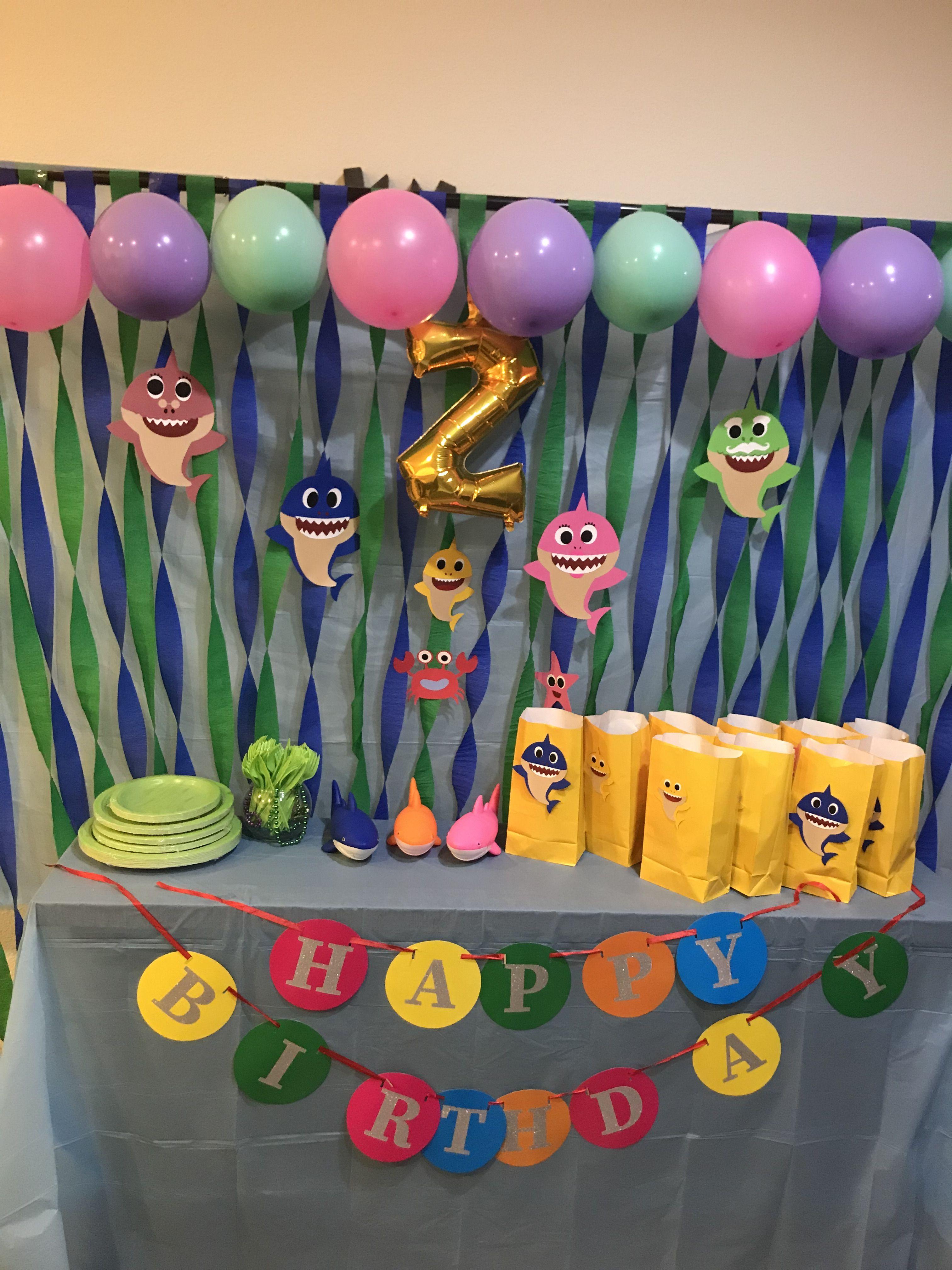 Baby Shark Birthday Party Shark Birthday Shark Themed Birthday Party 1st Birthday Party For Girls