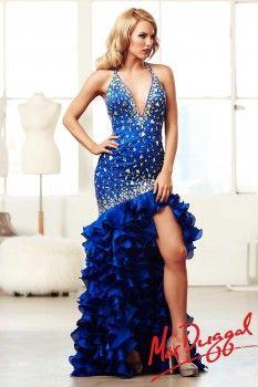 a827524f62 Mac Duggal Ruffle Side Slit Prom Dress 48115M