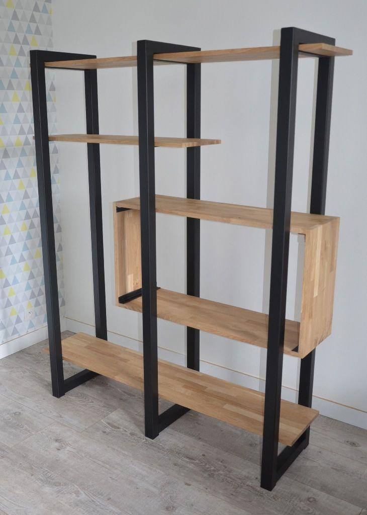 etagere bois metal