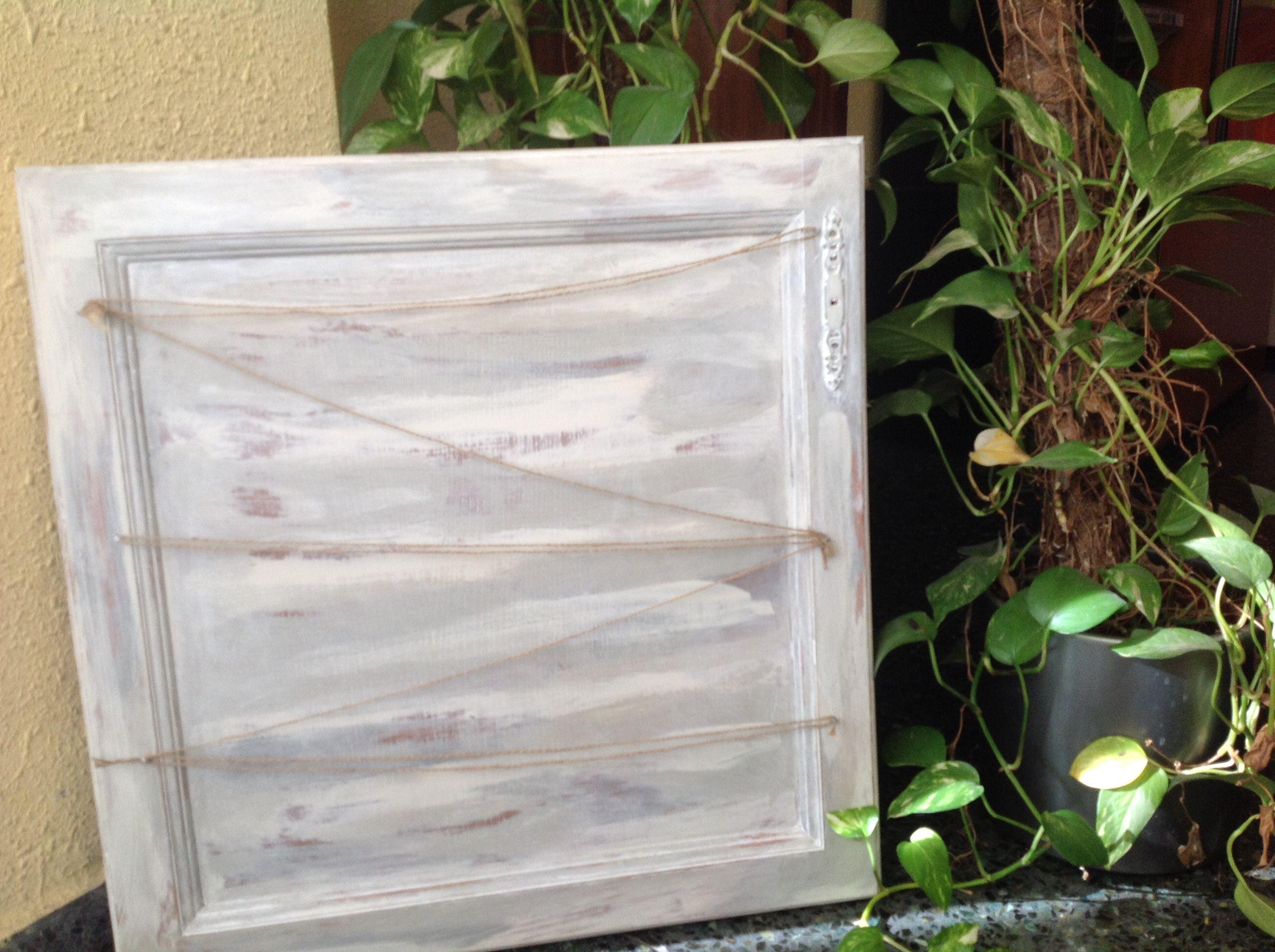 Vieja puerta de cocina pintada con pintura a la tiza auténtico ...