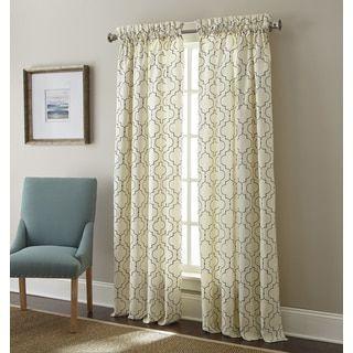 Sherry Kline Hampton Embroidered Rod Pocket 84 Inch Curtain Panel