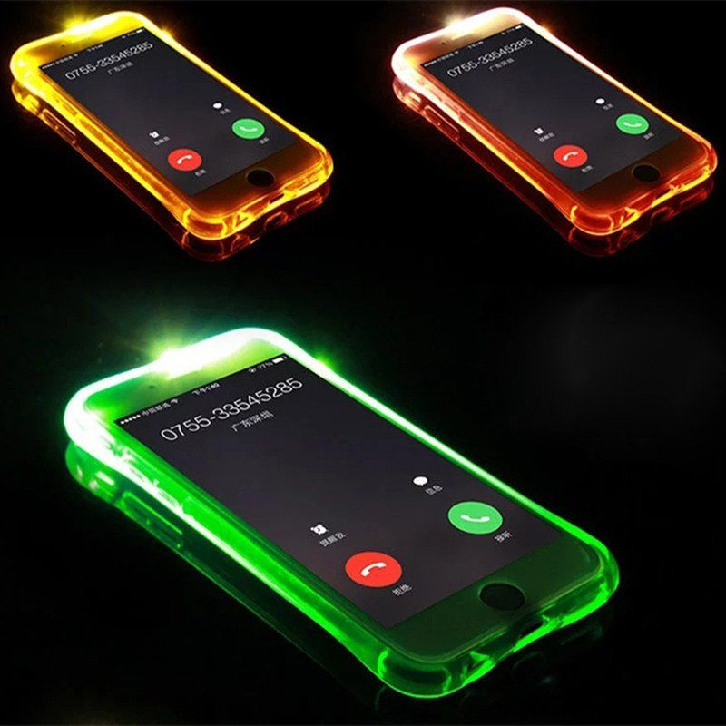 coques t l phone lumineuse flash light pour iphone 5 5s. Black Bedroom Furniture Sets. Home Design Ideas