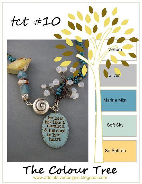 addINKtive designs: The Colour Tree #10 - Vellum, Silver, Marina Mist,...