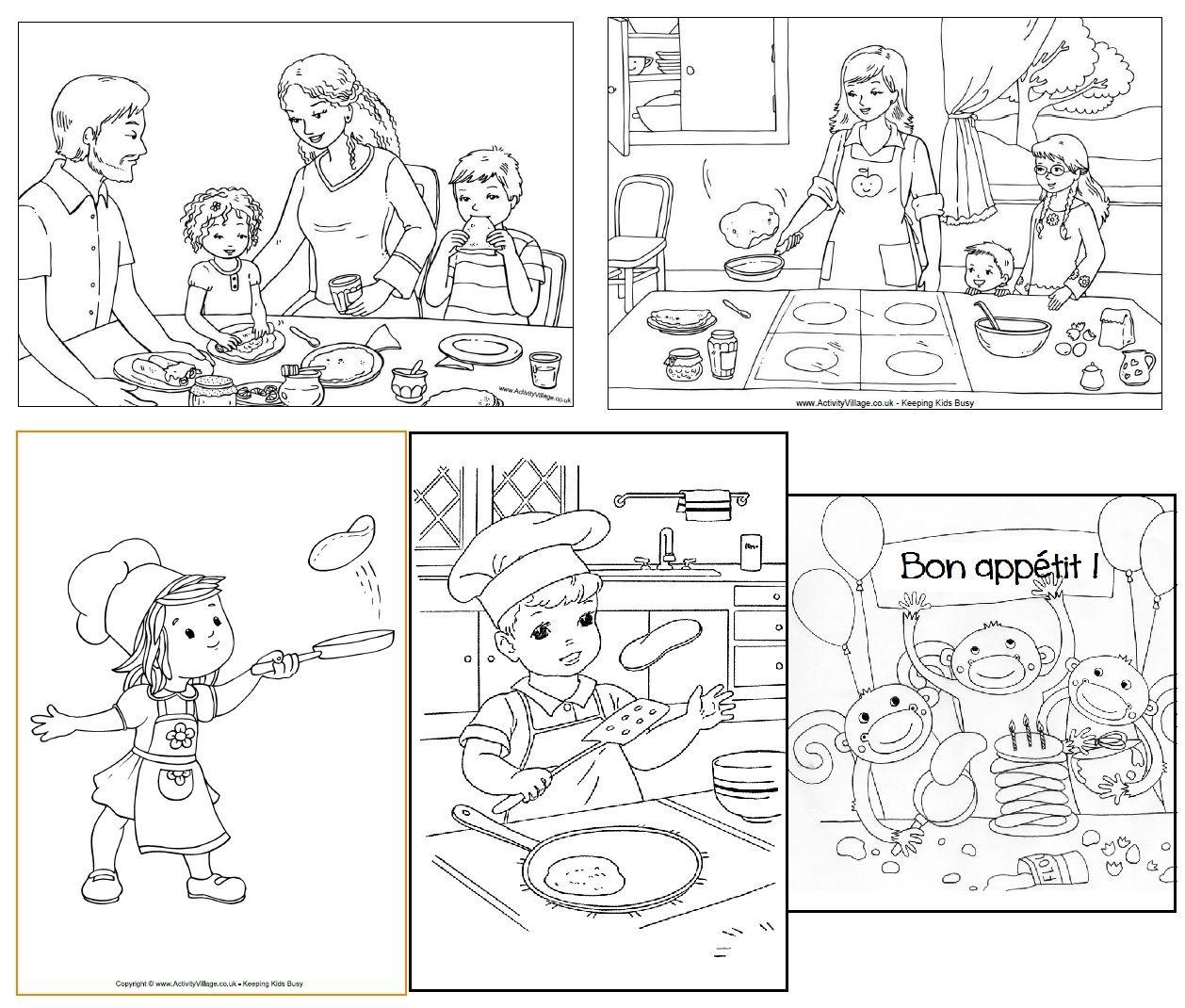 La Chandeleur activités et coloriages autour des crªpes