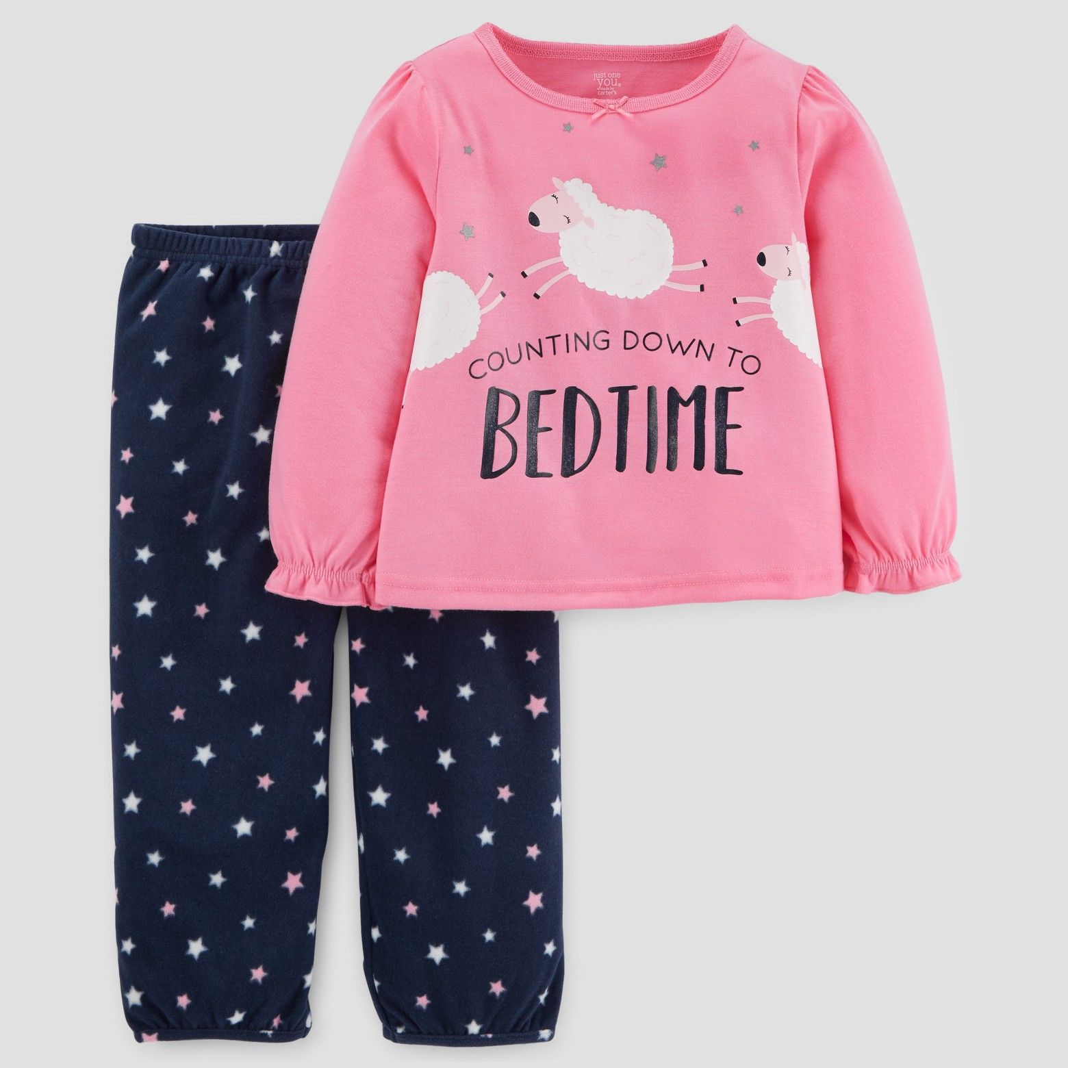 aa557e58d3 Baby Girls  2pc Long Sleeve Sheep Bedtime Pajama Set - Just One You™ Made  by Carter s Pink  10