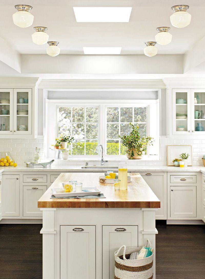 Ceiling Fixture Flush Mount Fixtures Rejuvenation Kitchen Window Design Classic White Kitchen Home Kitchens