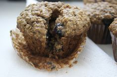 Make Blueberry, Oatmeal and Flaxseed Muffins in Less Than a Half Hour