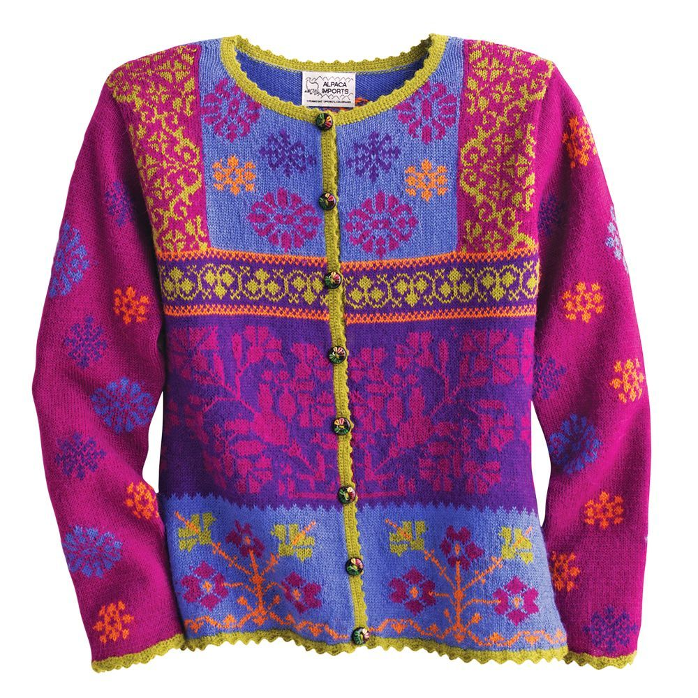 Magenta Peruvian Alpaca Sweater   National Geographic Store.   Made entirely by hand in Peru using an alpaca blend to create this vivid garment that drapes like silk.