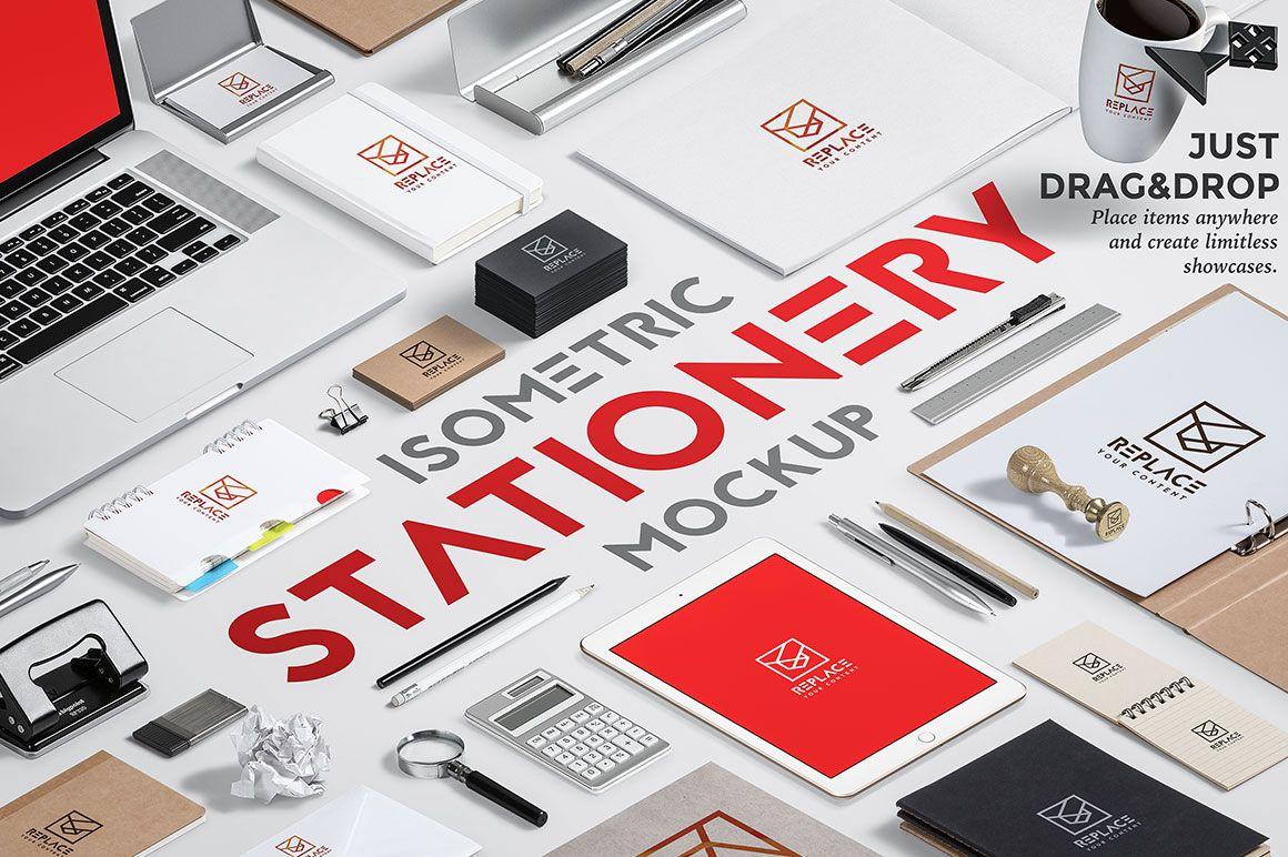 Iso. Stationery Mock Up Generator by Mockup Zone on Creative Market - not free