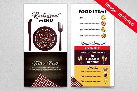 Restaurant Menu Template Flyer Templates  Flyer Templates