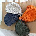 panières de 4 couleurs petitresors Crochet Basket